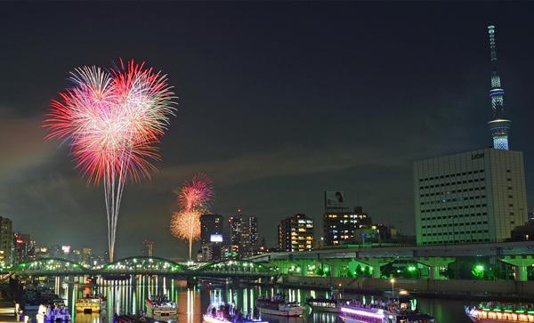 本日7月27日は、隅田川花火大会です